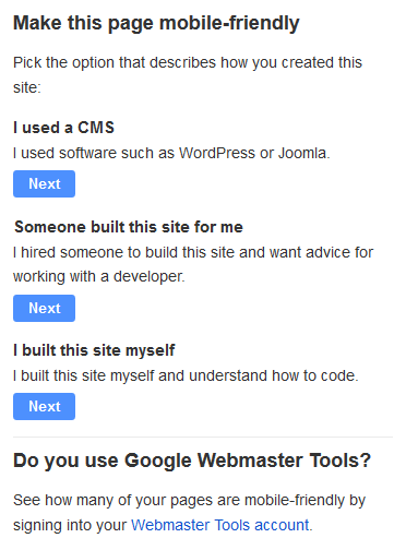 Google's tips for making a site mobile-friendly.