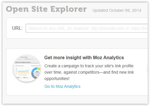 Open Site Explorer example
