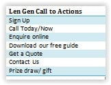 Lead Gen Call to Actions chart