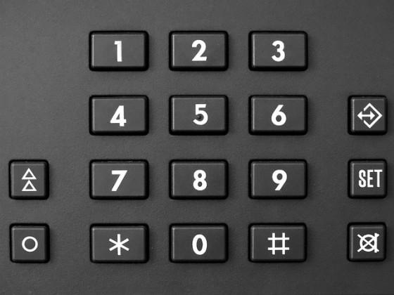 Phone keypad.
