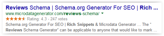 Review rich snippet example