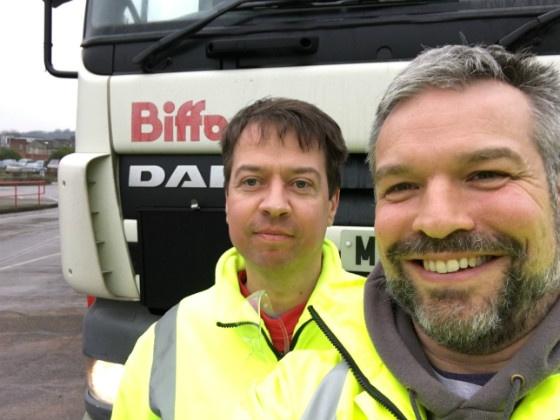Rob Allen and Biffa driver Mark