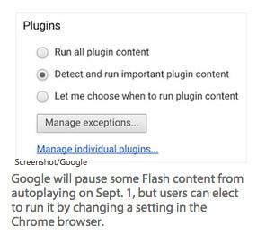Google Chrome Flash plugin