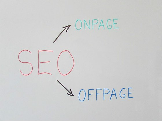 SEO -on-page and off-page.
