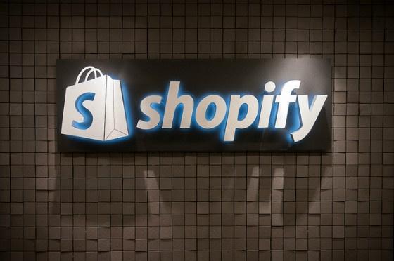 Lit Shopify signage.