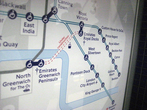 Detail of London tube map