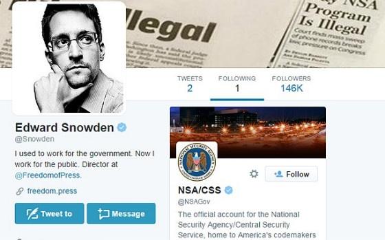 Snowden Twitter page