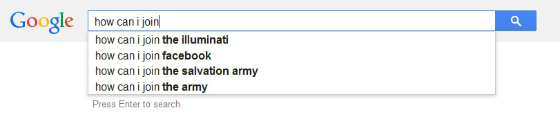 'How can I join' autosuggestions with ISIS removed.