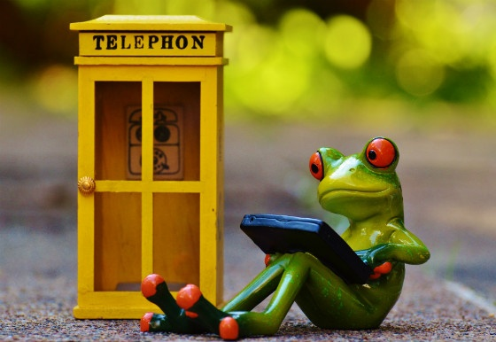 Telephone and Laptop