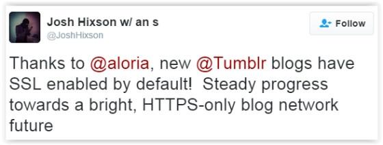 Tumblr blog tweet
