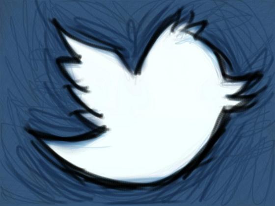 Twitter bird sketch.