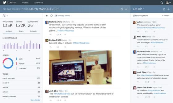 Twitter Curator screenshot.