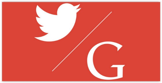 Google and Twitter logos