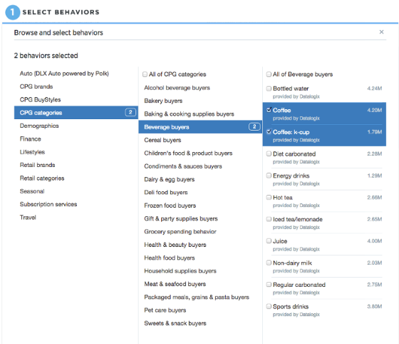 Twitter's partner audiences - how the feature will look.