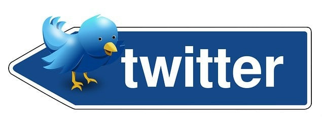 Twitter on a roadsign.