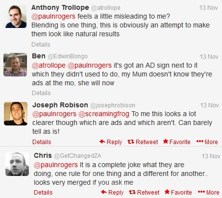Comments on Google's new PPC formats