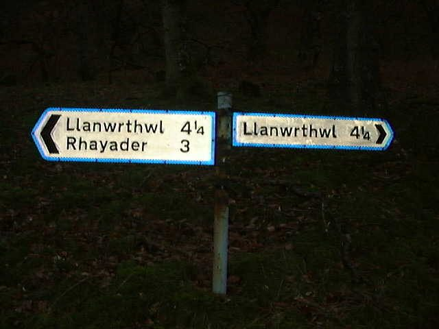 A confusing road sign.