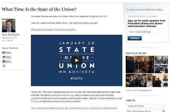 The White House's SEO post.
