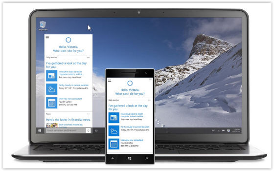 Windows 10 on laptop and mobile