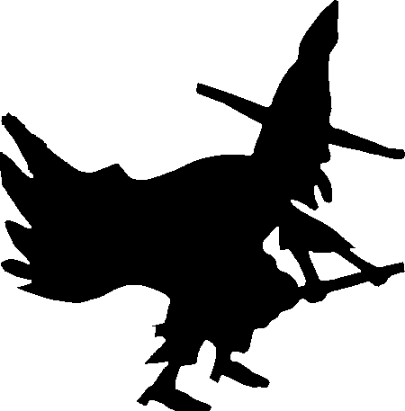 The heraldic mark of the black hatters, depicting a member of their order clutching a broom and falling over.