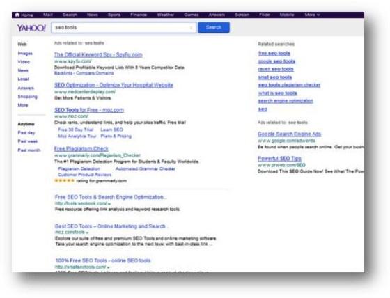 Yahoo screen shot