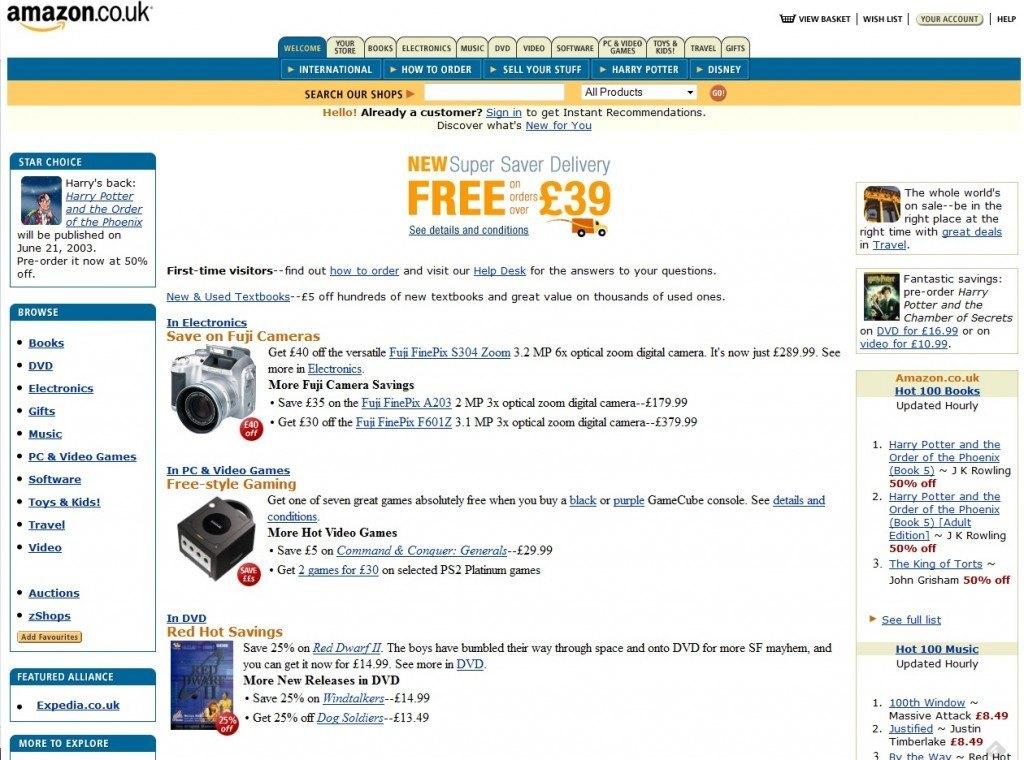Amazon.co.uk circa 2003
