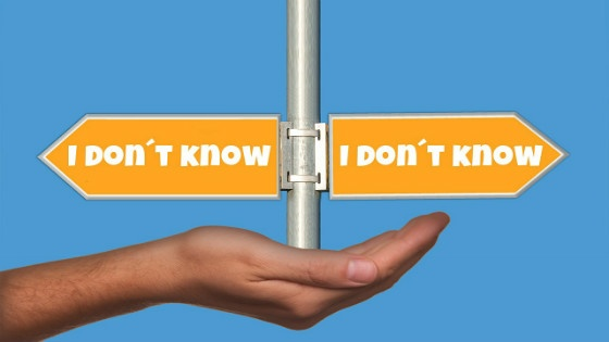 'I don't know' signs