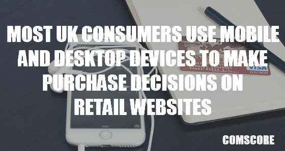 Most UK Consumers use mobile and desktop devices to make purchase decisions on retail websites.