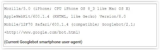 current googlebot