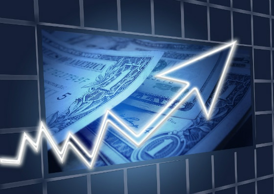 money and upward trend