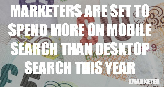 Marketers are set to spend more on mobile search than desktop search this year.