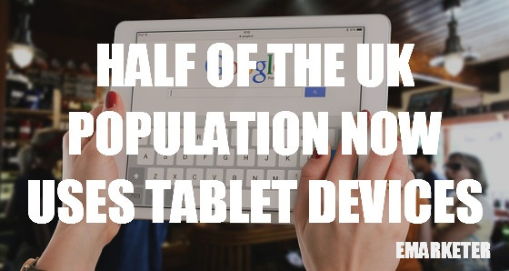 Half of the UK population now uses tablet devices.