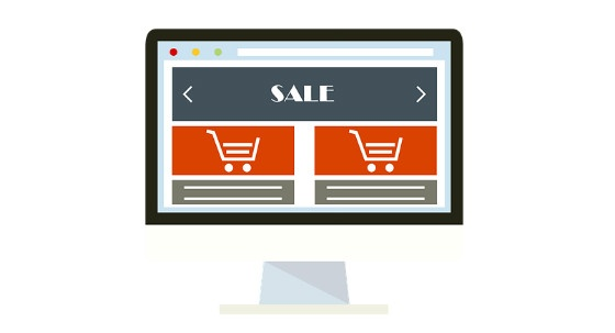 e-commerce on screen