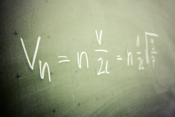 formula on blackboard