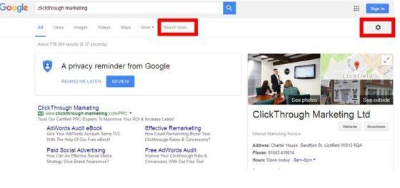 google before test
