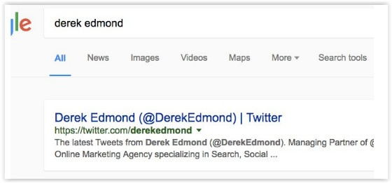 Google search with no estimates bar