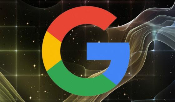 G Google logo in space