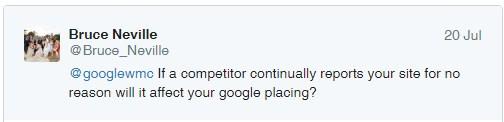 google spam ranking