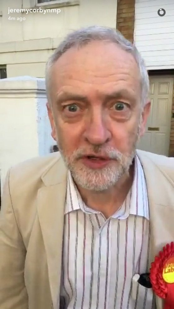 Jeremy Corbyn on Snapchat