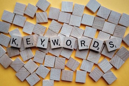 keywords in scrabble letters