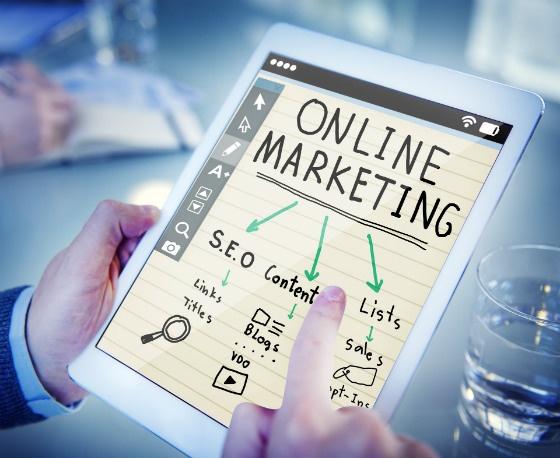 online marketing mind map on ipad