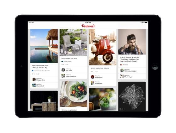 Pinterest on iPad