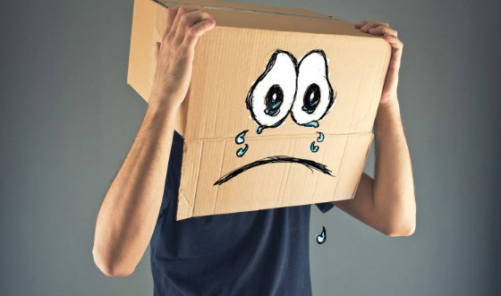 sad box face