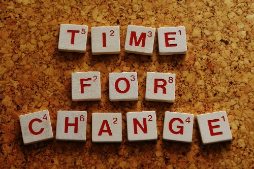 time for change in scrabble letters