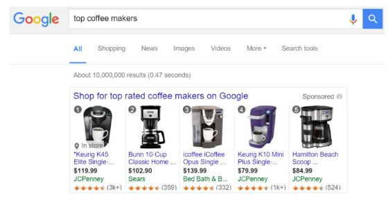 top rated products in desktop results