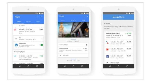travel features in Google