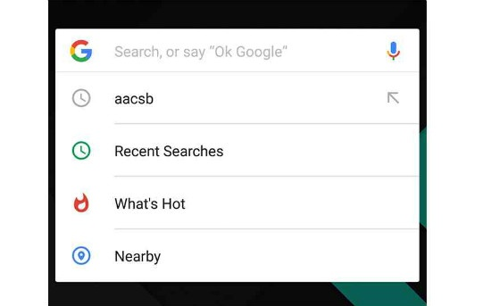 'What's Hot and 'Nearby' search features