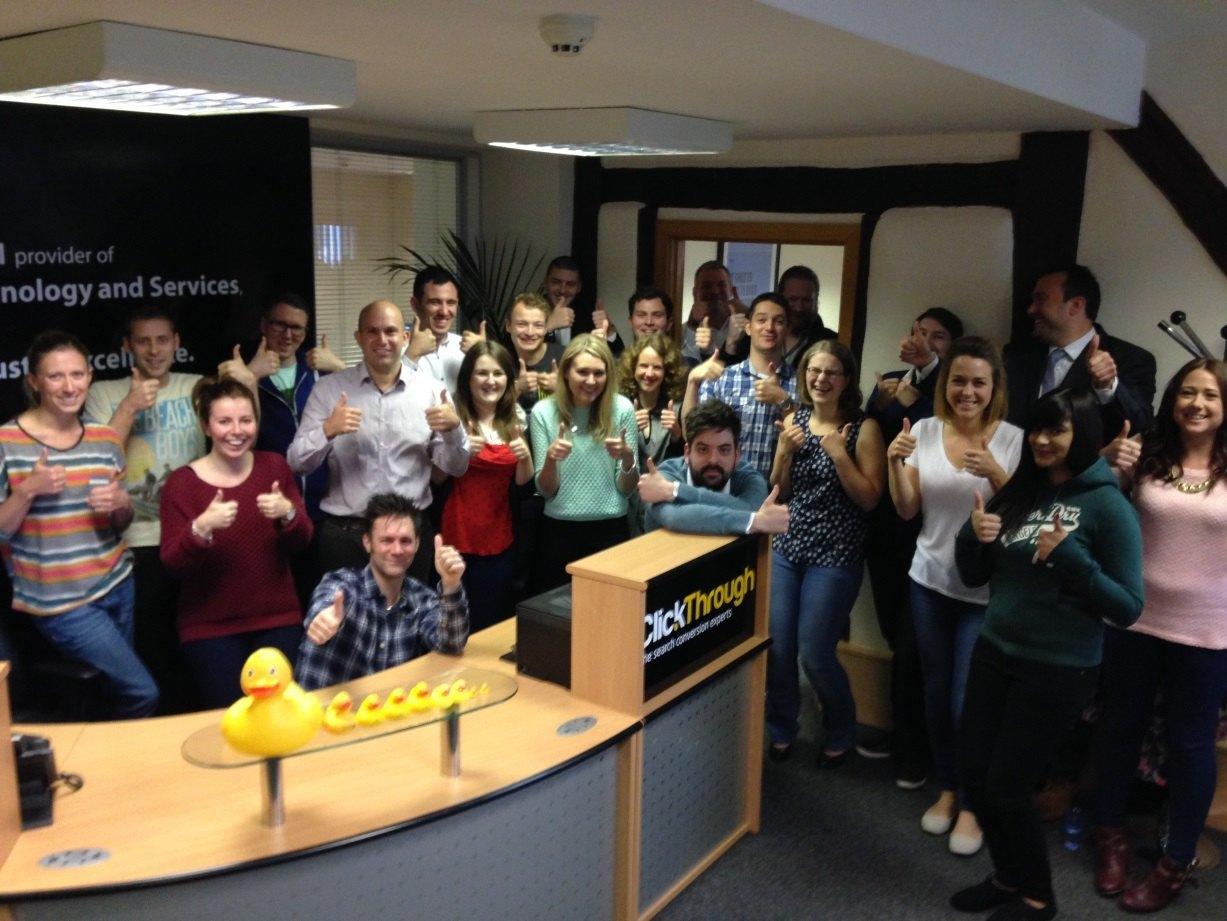 Thumbs Up for Stephen from ClickThrough Marketing