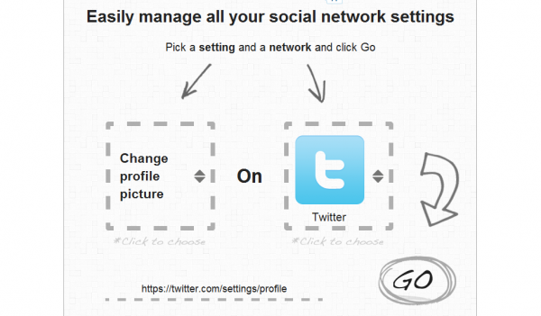 Managing your social network profiles - blisscontrol