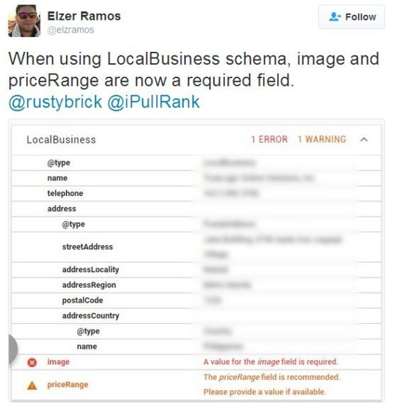 Google Changes LocalBusiness Schema